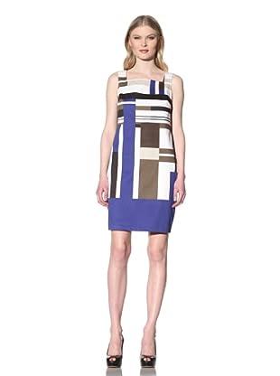 Chetta B Women's Sleeveless Flag Print Dress (Royal)