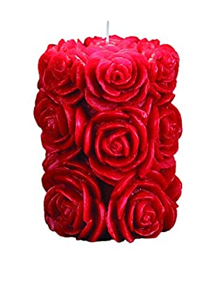 Volcanica Femme Small Pillar Candle, Red