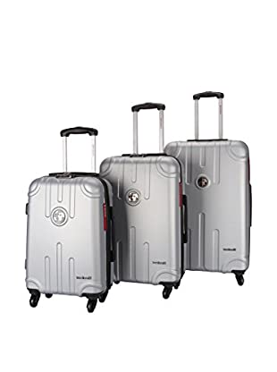 TRAVEL WORLD Set de 3 trolleys rígidos Lis Plata