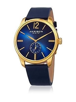 Akribos XXIV Uhr mit japanischem Quarzuhrwerk Man blau 44 mm