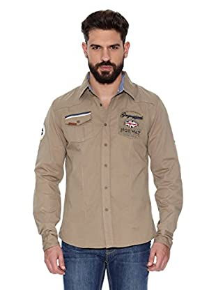 Geographical Norway Camisa Hombre Zactica Men Ls 404 (Beige)