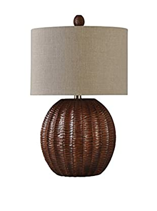StyleCraft Native 1-Light Table Lamp, Brown/Natural