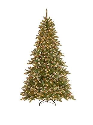 National Tree Company 7.5' Glittery Mountain Spruce Hinged Tree