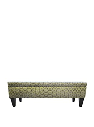 Sole Designs Brooke 10 Button Tufted Storage Bench, Bonjour Capri