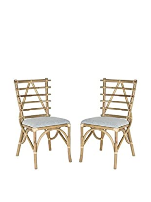 Safavieh Set of 2 Cynzia Side Chairs, Brown