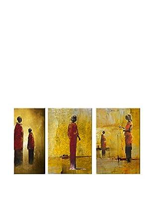 Legendarte Set Pintura al Óleo sobre Linezo 3 Uds. Momenti Spirituali multicolor