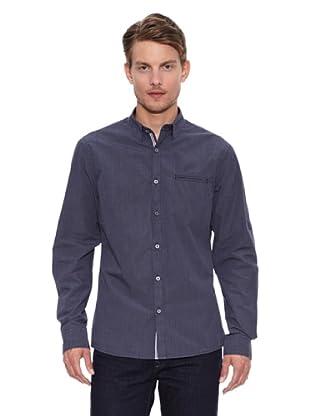 Salsa Camisa Monaco Slim Bolso (Gris Oscuro)