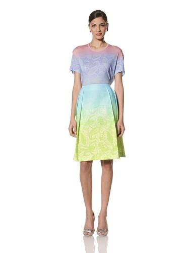 Jonathan Saunders Women's Harmont Paisley Skirt (Lemon/Light)