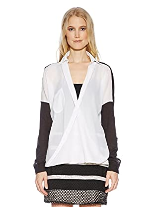 Cream Blusa Lauretta (Blanco / Negro)