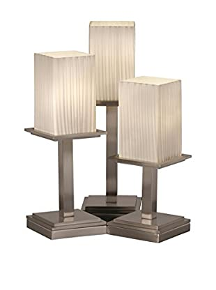 Justice Design Group Fusion 3-Light Montana Table Lamp, Brushed Nickel