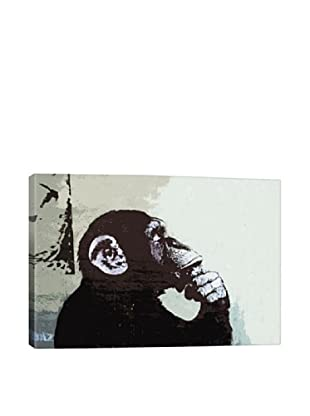 Banksy The Thinker Monkey Giclée On Canvas