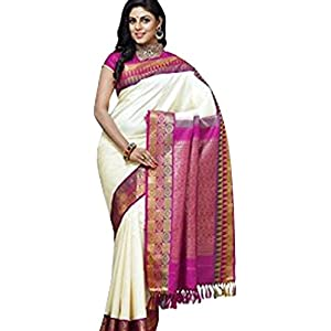 Sandal Colored Pure Kanchipuram Silk Saree by Shree Devi Textile
