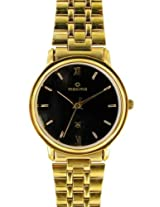 Maxima Gold Analog Black Dial Men's Watch - 07142CMGY
