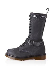 Dr. Marten's Women's Janice Motorcycle Boot (Charcoal)