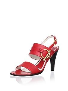 MARNI Women's Vitello Sandal (Carmine Red)