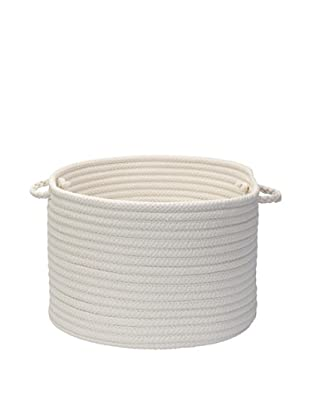 Colonial Mills Simply Home Basket, (White)