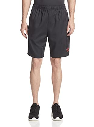 Umbro Men's Aztec Stripe Soccer Short (Black/True Red)