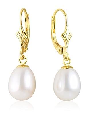 Compagnie générale des perles Pendientes Oro / Blanco
