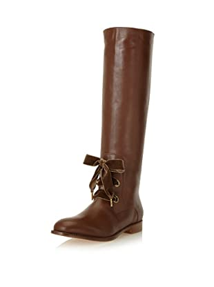 Red Valentino Women's Lace-Up Boot (Brown)