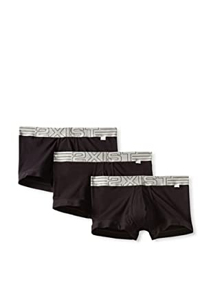 2(x)ist Men's Military No-Show Trunk 3-Pack (Black)