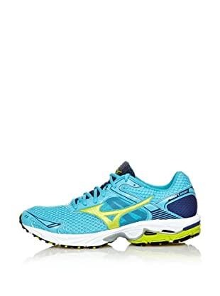 Mizuno Sneakers Running Wave Legend (Blu/Lime/Argento)