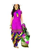 Riti Riwaz Pink Printed Dress Material With Dupatta NSTP2002