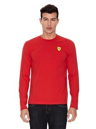 Ferrari Camiseta Long Sleeve (Rojo)