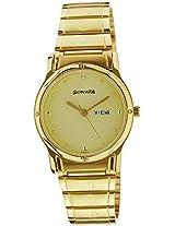 Sonata Classic Analog Gold Dial Men's Watch - NC7023YM09