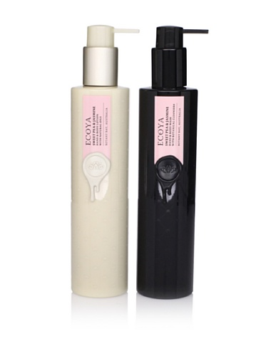 Ecoya Sweet Pea and Jasmine Hand/Body Lotion and Liquid Soap, 2 Pack