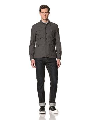 John Varvatos Star USA Men's Four-Pocket Worker Jacket (Granite)