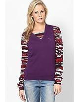 Purple Cotton Sweater Puma