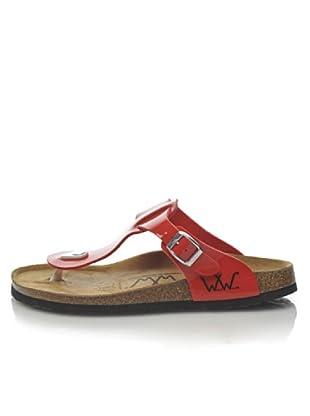 World Walker Licensed by Birkenstock Sandalo Tess Patent (Rosso)