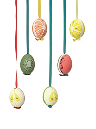 Peter Priess Set of 6 Assorted Fruit Easter Eggs, Multi