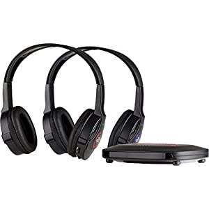 SHARPER IMAGE SHP921-2GB Universal Wireless Headphones For TV (Pack of 2 Headphones), (Black)