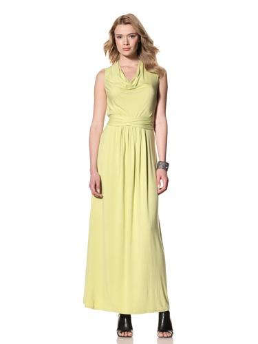 Twinkle by Wenlan Women's Garden of Eden Maxi Dress (Rayon Jersey Citrus)