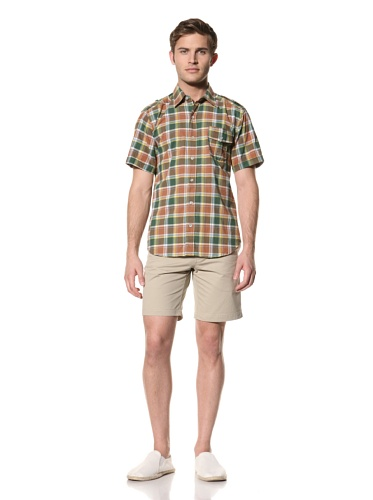 Standard Issue by Hyden Yoo Men's Grunion Shirt (Sea Green Plaid)