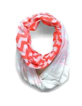 ScarfKing Step-Up Printed Snood-White Coral