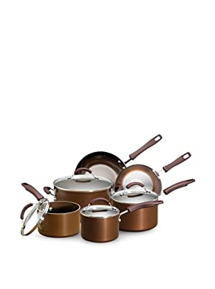 Earth Pan Plus Nonstick 10-Piece Cookware Set, Bronze