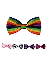 DBFF0010 Multi- Satin Fashion Polyster Boys Boys Pre-Tied Bow Ties Set - 5 Colors Available By Dan Smith