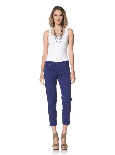 XCVI Women's Twiggy Stretch Twill Pant (Electric Blue)