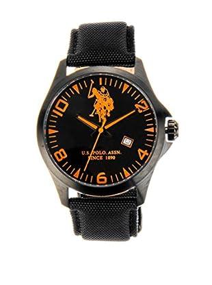 U.S. POLO ASSN. Uhr mit japanischem Quarzuhrwerk Manhattan schwarz 42 mm