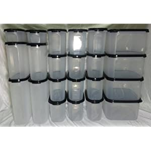 Tupperware Modular Mates Combo Pantry Set Of 24Pcs + Free Container Labels