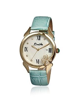 Bertha Women's BR2203 Clover Powder Blue/White Leather Watch