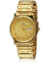 Titan Karishma Analog Gold Dial Men's Watch - NE390YM12