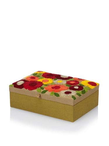 Purva Woolen Bliss Large Jewelry Box, Tan Ombre