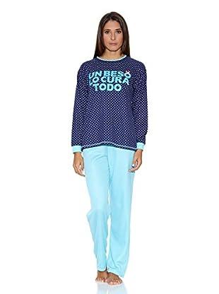 Kumy Pijama Un Beso (Azul)