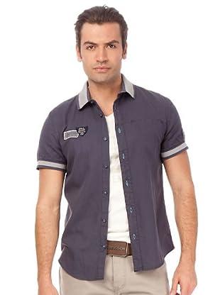 Chevignon Camisa (azul / gris)