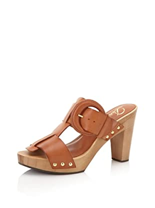 Delman Women's Devon Wood Sandal (Cuoio Vachetta)