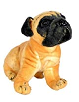 Stuffed Soft Toy Pug Dog-32cm