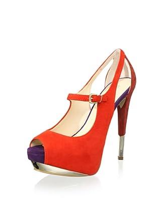 Boutique 9 Women's Nickeya Platform Sandal (Orange Multi)
